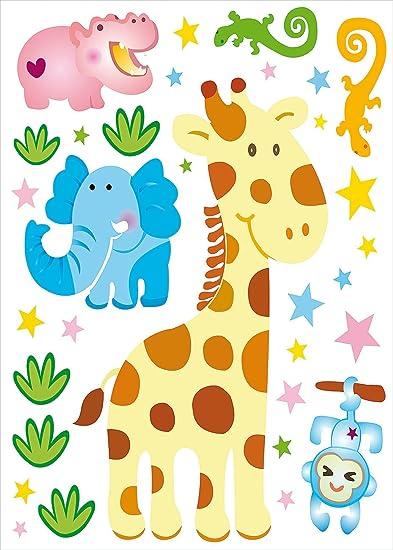 Adesivi Murali Animali Per Bambini.Divertente Adesivi Murali Animali Per Kenya Per Bambini Amazon