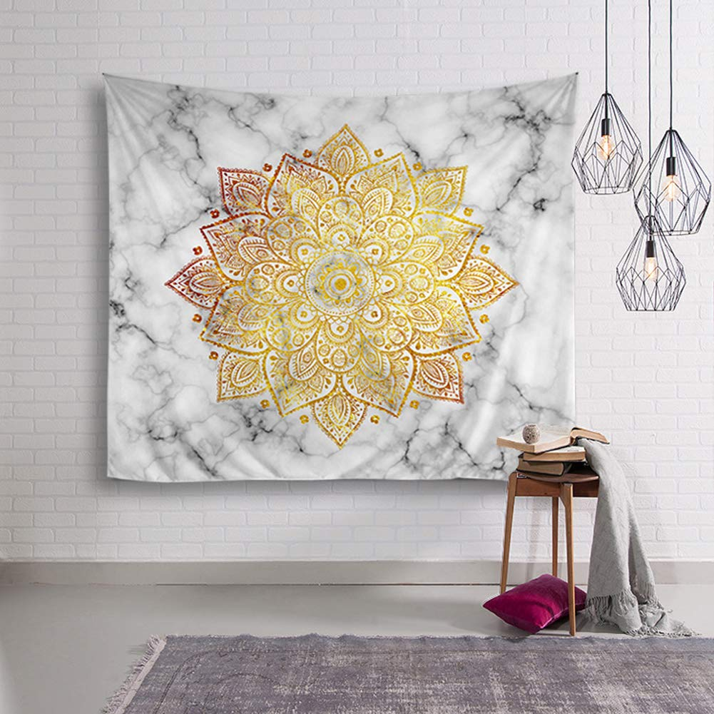 Yzakka Psychedelic Tapestry Mandala Hippie Bohemian Wall Hanging ...