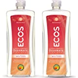 Earth Friendly Products ECOS Dishmate Dish Liquid, Grapefruit, 25 Fl Oz (Pack of 2)