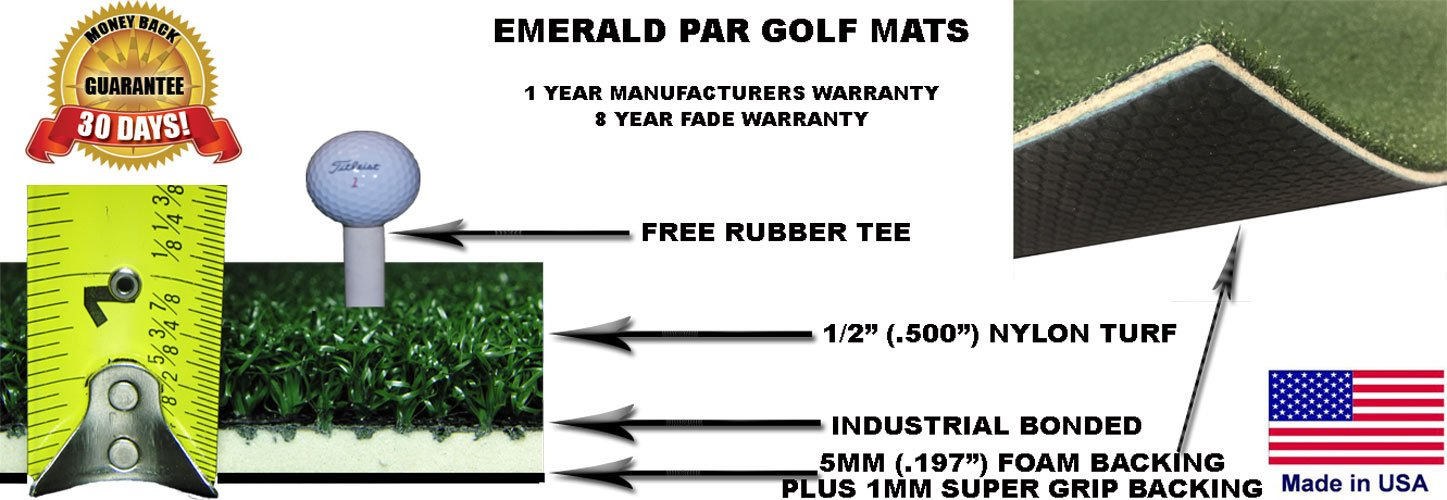 PGM4860 4' x 5' Emerald Par Golf Mat by All Turf Mats (Image #2)
