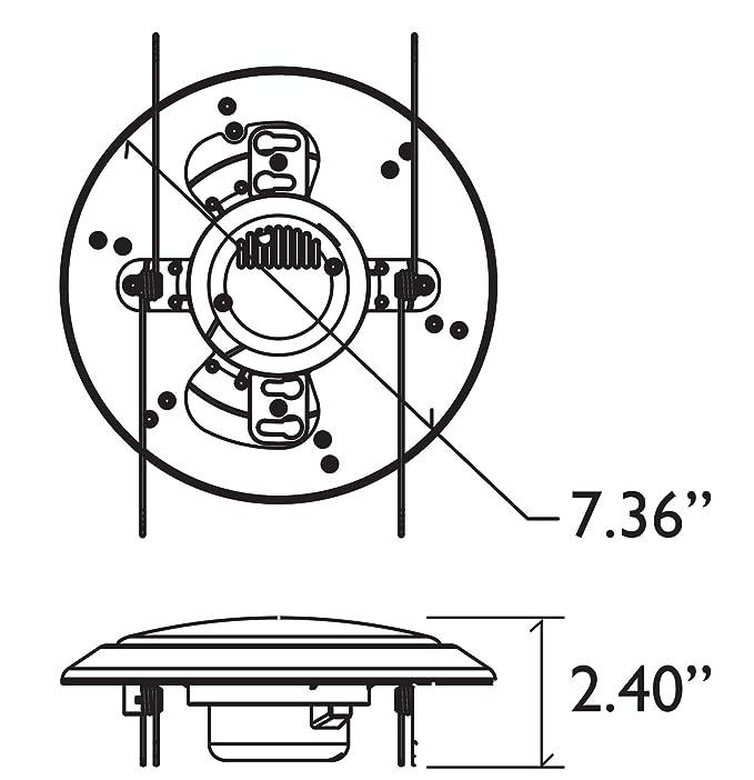 Viribright 75 Watt Replacement 6 Inch Led Disk Mount Ceiling Fixture