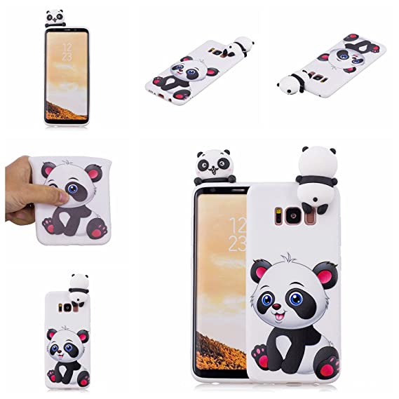 Phone Bags & Cases Fashion Style For Coque Samsung Galaxy S8 Case Plus For Samsung S8 Case 3d Cartoon Panda Unicorn For Case Samsung Galaxy S8 S8 Plus Back Cover Fitted Cases
