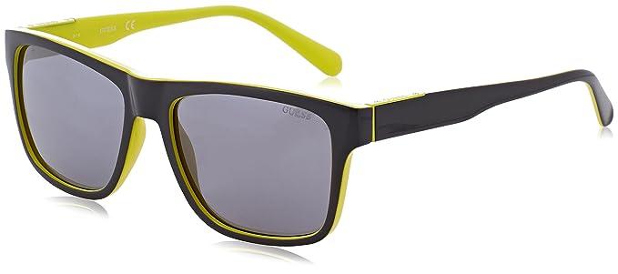 Guess GU6882 Gafas de Sol, Negro (Nero/Giallo), 56 para ...