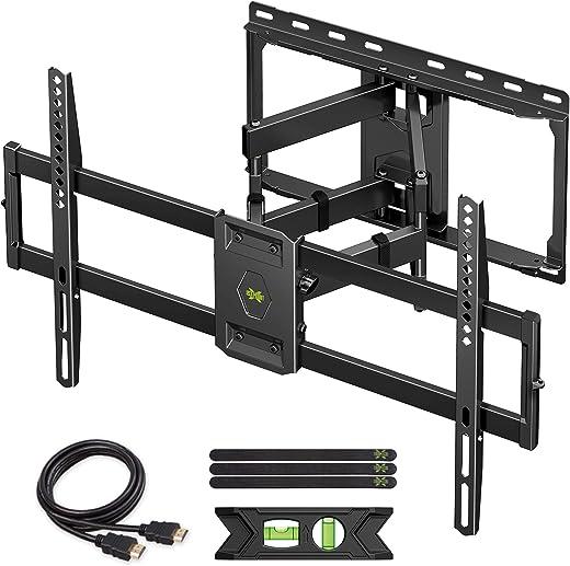 USX MOUNT Full Motion TV Wall Mount for Most 47-84 inch Flat Screen/LED/4K TVs, TV Mount Bracket Dual Swivel Articulating Tilt 6 Arms, Max VESA…