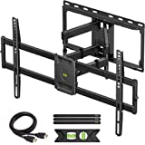 USX MOUNT Full Motion TV Wall Mount for Most 47-84 inch Flat Screen/LED/4K TVs, TV Mount Bracket Dual Swivel…