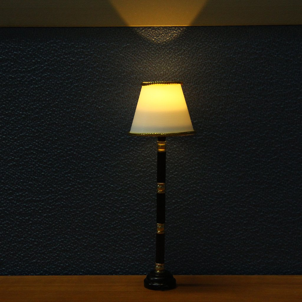 Battery-Operated Miniature LED Floor Lamp Light for 1/12 Dollhouse ...