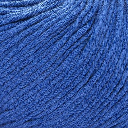 ggh Linova - 039 - azul medio - Algodón con lino para tejer y hacer ganchillo: Amazon.es: Hogar
