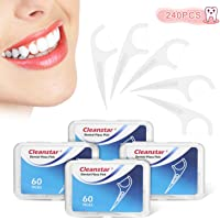 Dental Floss, LOETAD 240Pcs Floss Picks Tooth Stick Interdental Brush for Oral Cleaning