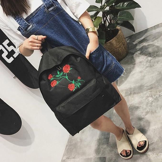 Mochila ligera vintage, diseño de rosas bordadas, mochila para la escuela, preescolar, para niños y niñas con correa para el pecho: Amazon.es: Bricolaje y ...