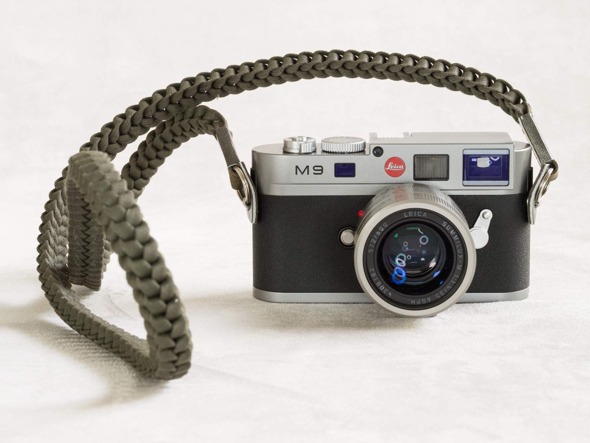 Barton 1972 Designer Braided Muddy Green Military Camera Neck Strap Lint Free Cotton 42'' Long w/Carry Bag Leica Sony Fuji Olympus Nikon by Barton 1972 (Image #2)