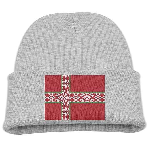 Amazon.com  ZWZ Flag Of Nordic Belarus Kid s Hats Winter Funny Soft ... 66d9b7cfc19