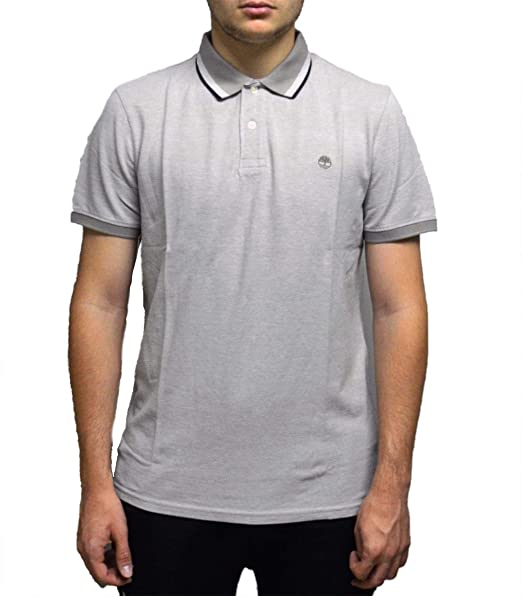 Timberland Millers River Polo para Hombre Gris A1O43089: Amazon.es ...