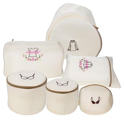Bolsas para la coladaa-Bolsas de lavado de malla de lavado, NATIONALMASTER bolsas de lavado duradero y transpirable para lavadora y secadora (Set de 5 ...