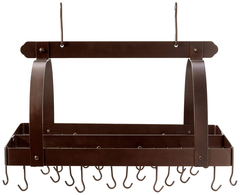 Copper Old Dutch 30-by-20-Inch Rectangular Pot Rack