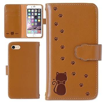 91865d31bf Amazon | LG style L-03K ケース 手帳型 手帳 型押し 猫 カバー (カラー ...