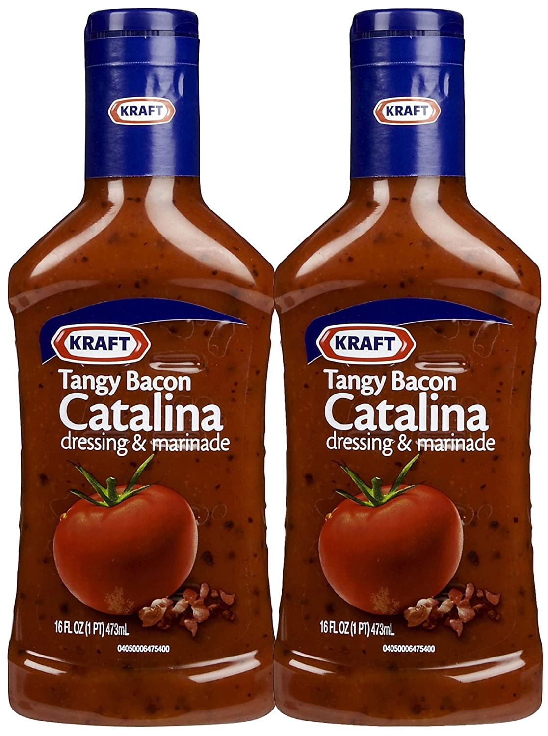 Amazon Com Kraft Tangy Tomato Bacon Catalina Dressing 16 Oz 2 Pk Salad Dressings Grocery Gourmet Food