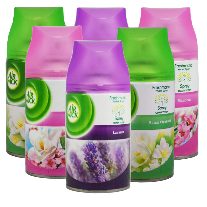 6x Airwick Freshmatic Max Automatic Spray Refills 250ml Mix