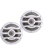 2) Kenwood 8 Inch 300 Watt Powersports/Marine Boat White Speakers | KFC-2053MRW