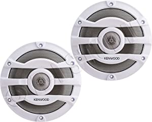 2) Kenwood 8 Inch 300 Watt Powersports/Marine Boat White Speakers | KFC-2053MRW