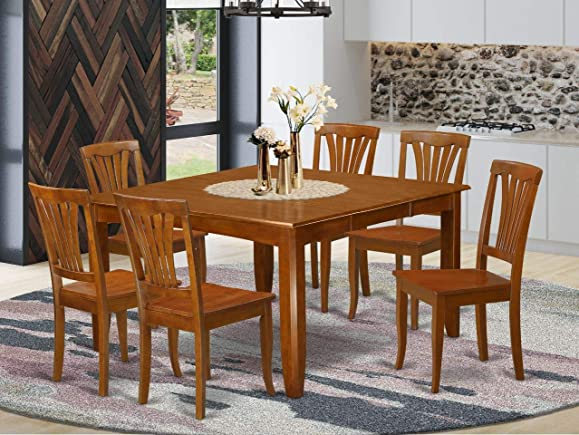 7 Pc Dining room set-Square Table