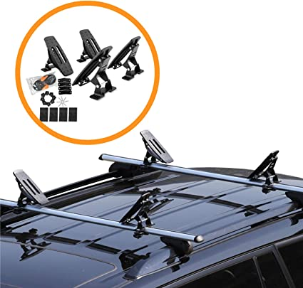 Kayak Roof Carrier >> Onefeng Sports Saddle Kayak Roof Rack Canoe Mount Holder Cradle Boat Carrier For Most Car Suv Cross Bars