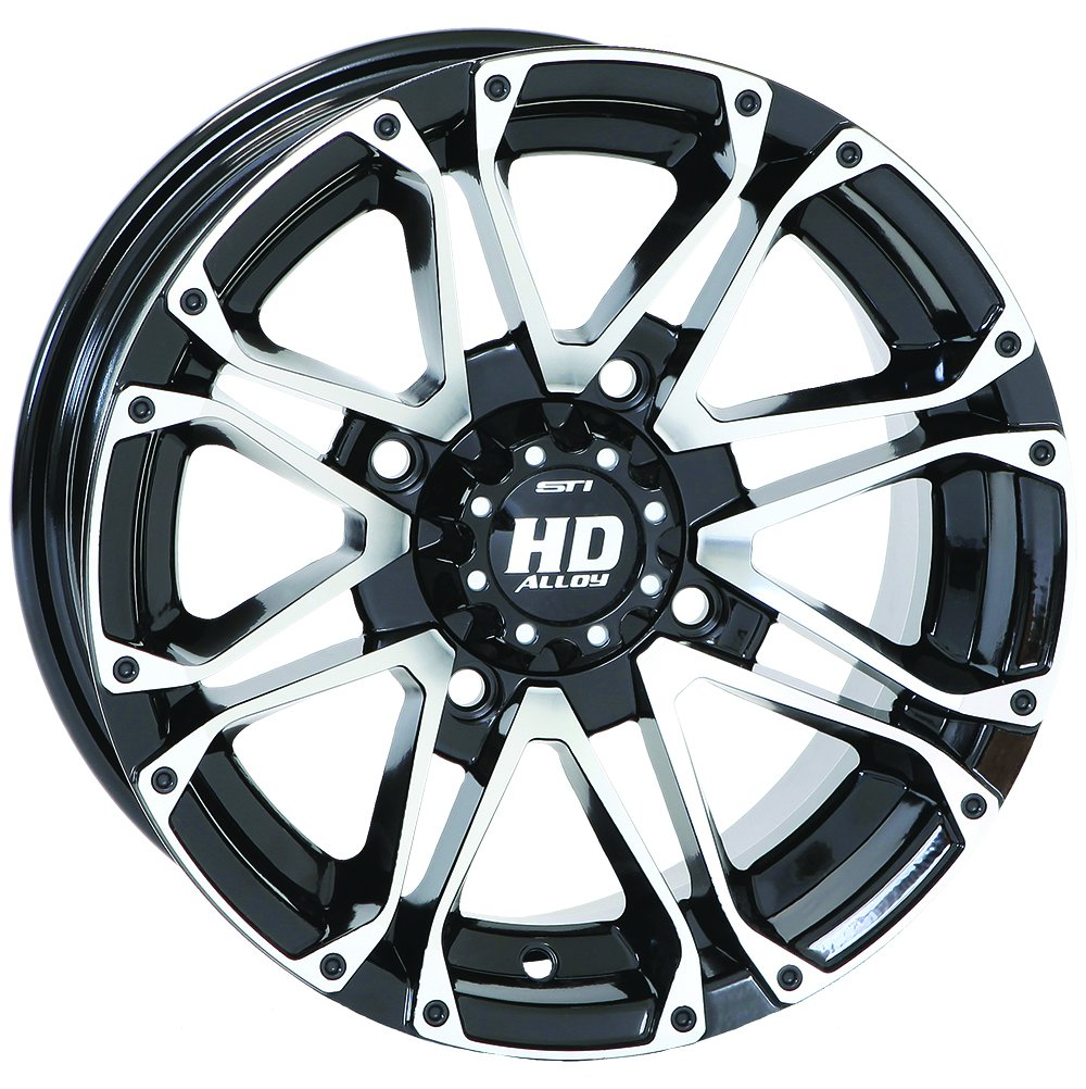 4/156 STI HD3 Alloy Wheel 14x7 4.0 + 3.0 Black Machined POLARIS