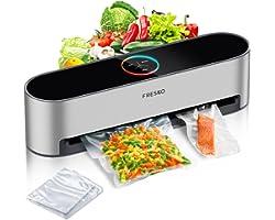 Automatic Vacuum Sealer Machine, FRESKO 5-In-1 Hands-Free Food Sealer for Food Saver, 95Kpa Vacuum Sealer, Dry & Moist Food M
