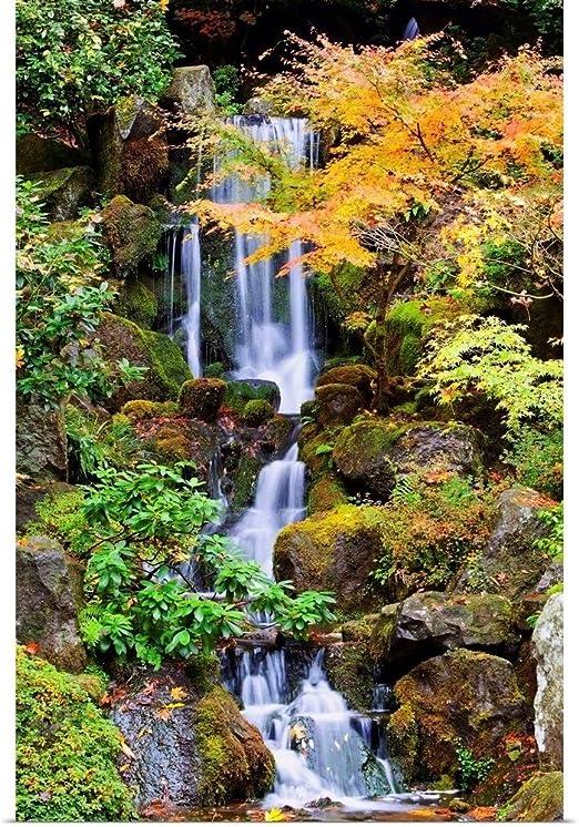 Amazon Com Greatbigcanvas A Waterfall In The Portland Japanese