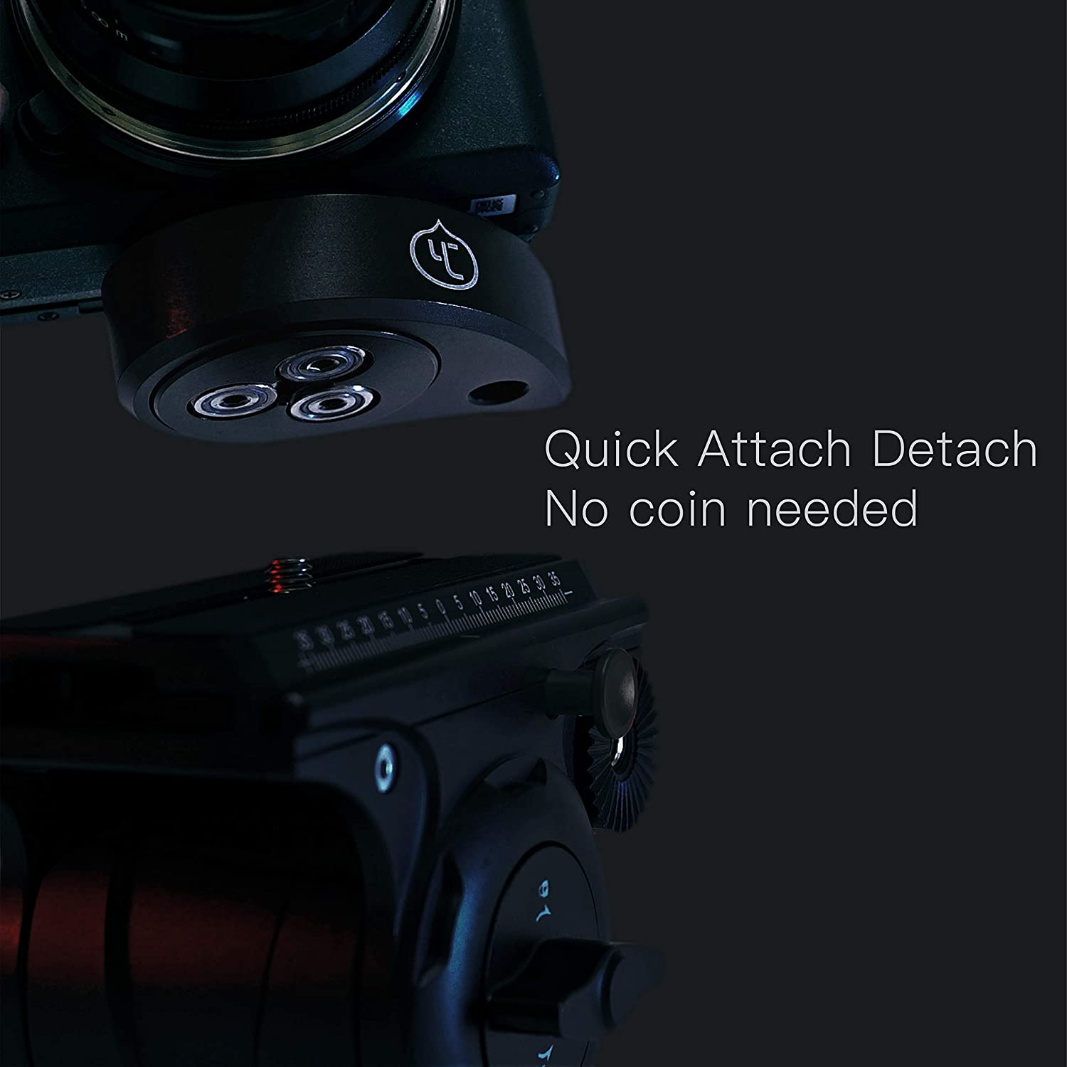 Peach Plate Quick Release Plate for Tripod 1//4in Thread