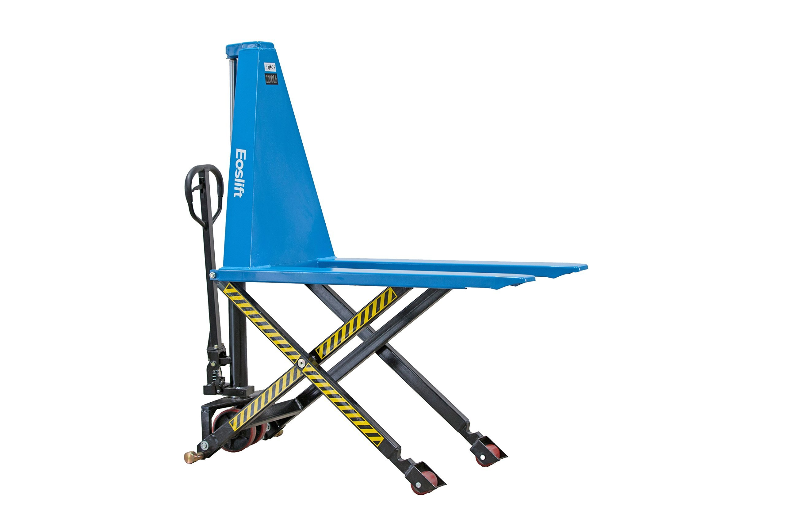 Eoslift I10 Manual Single Piston Scissor High Lift Pallet Jack Truck, Capacity 2200 lb. by Eoslift