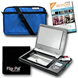 Flip-Pal Restore Bundle: Scanner Blue Carry case, Lens Cleaning Cloth Restore Software from Vivid-Pix to Revive Old Photos.