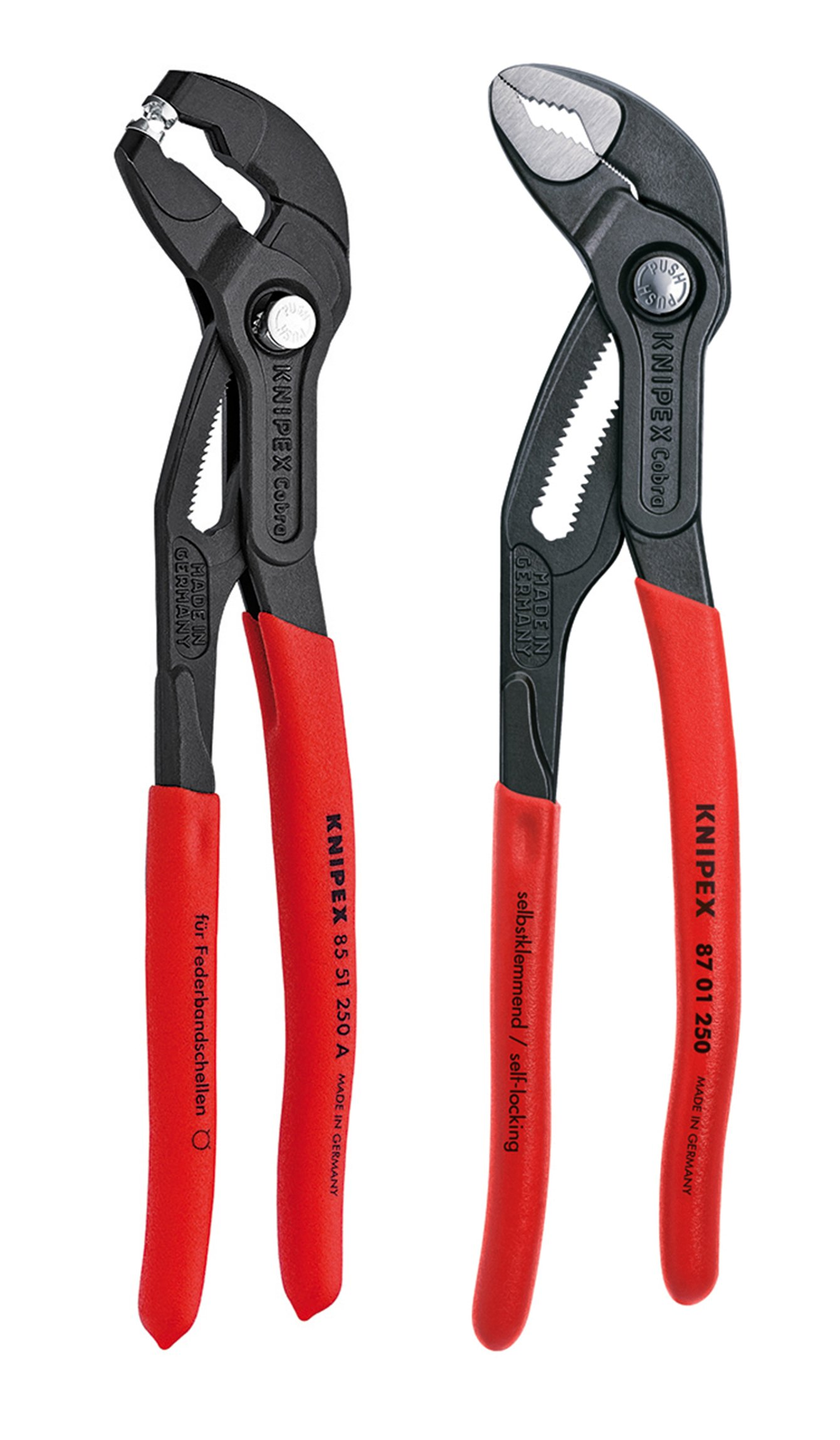 Knipex Tools 9K 00 80 104 US 10'' Cobra and Hose Clamp Pliers Set (2 Piece)