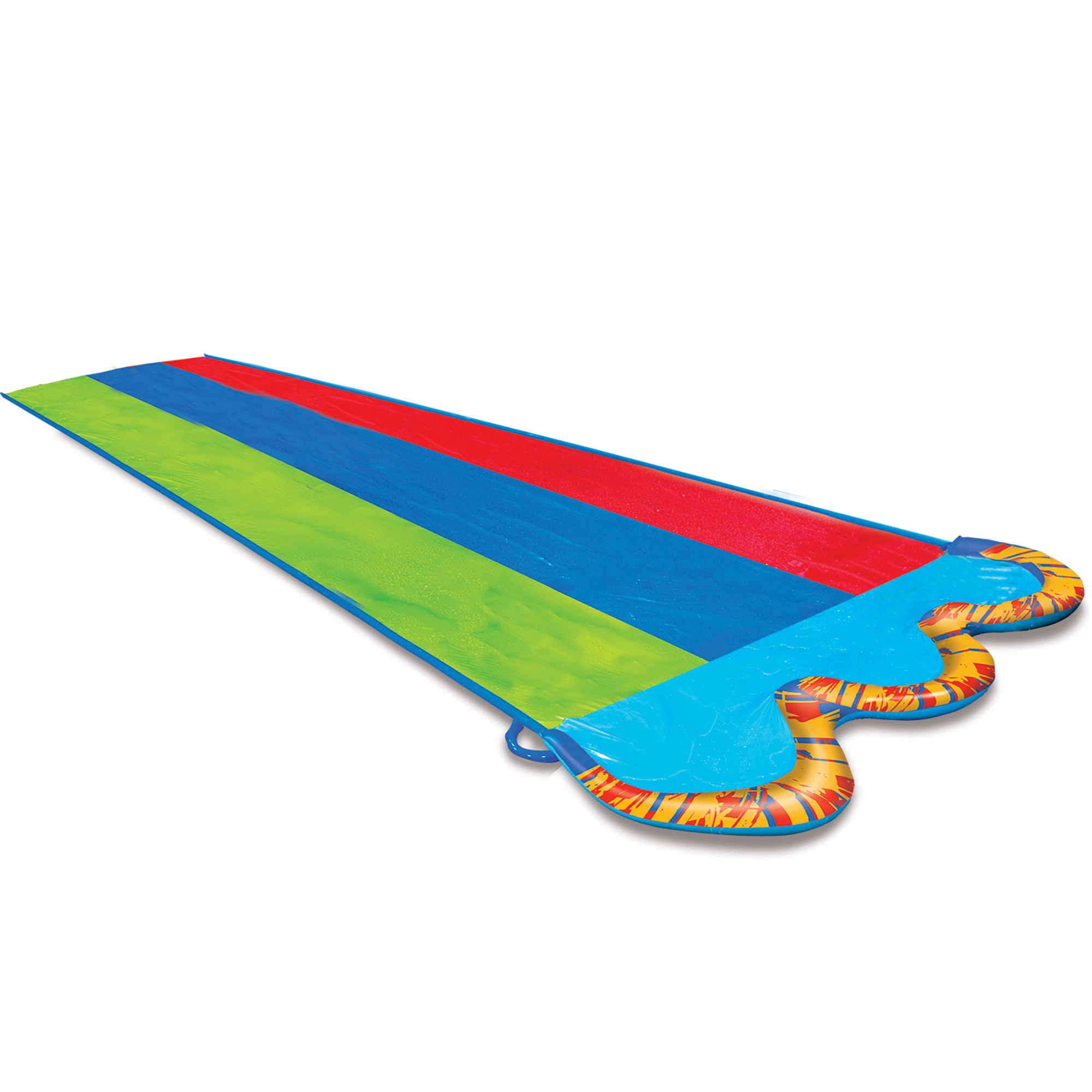 BANZAI Triple Racer Water Slide with 3 Bonus Body Boards by Banzai