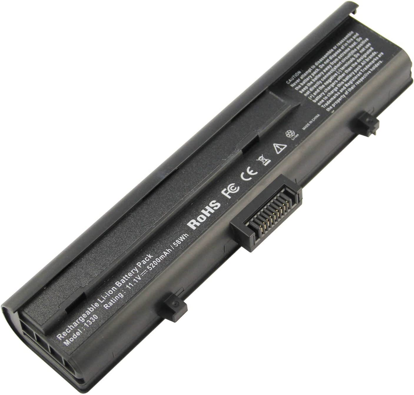 ARyee M1330 Battery Compatible with Dell Inspiron 13 1318 1318N Xps M1330 PU556 NT349(5200mAh 11.1V)