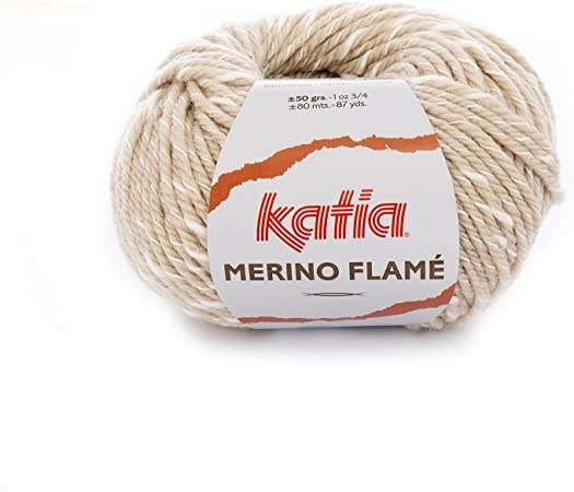 Katia Merino Flame FB. 101 – Beige/Crudo, Aguja de Lana con ...