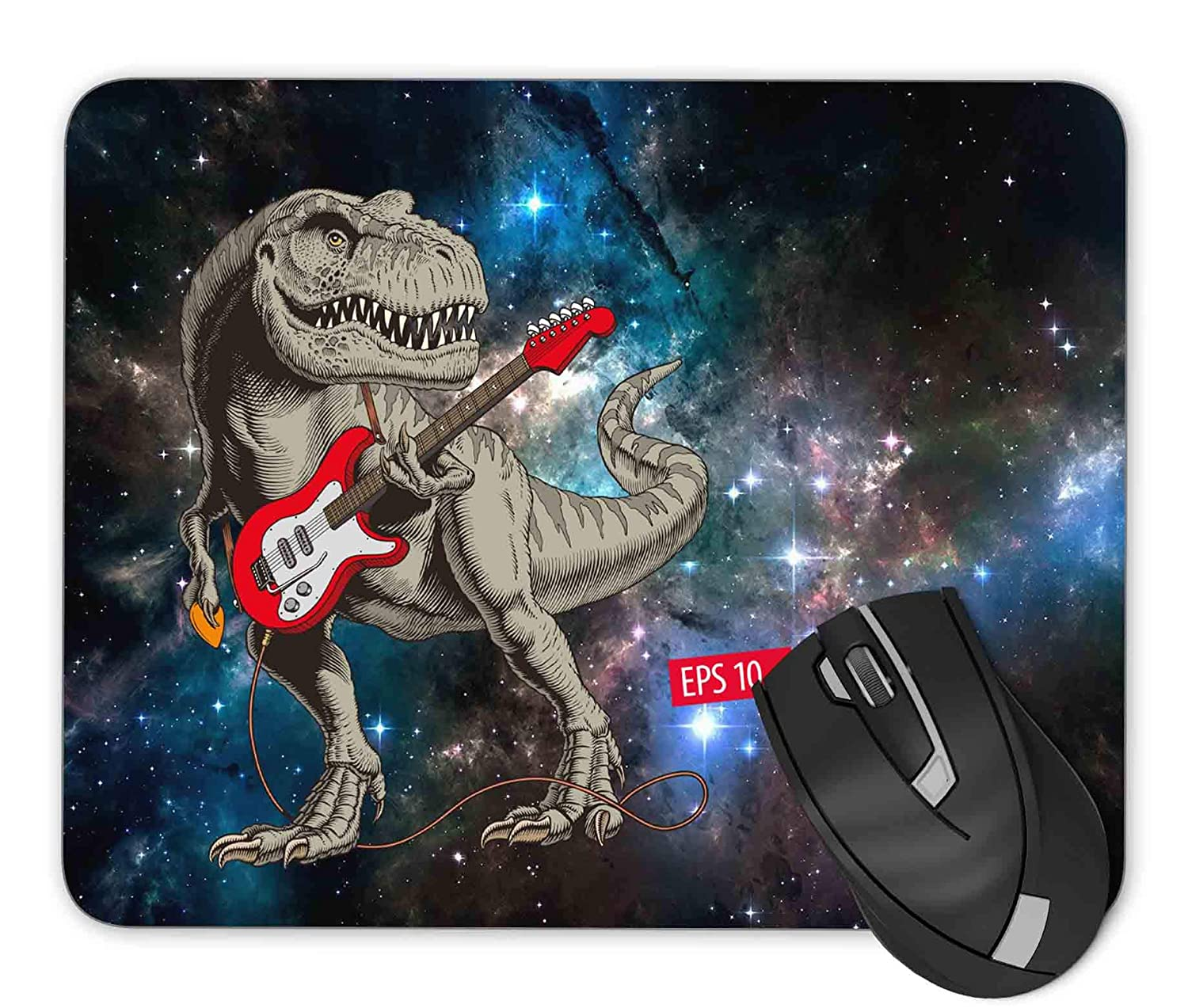 Dinosaur Playing The Guitar Mouse pad Gaming Mouse pad Mousepad Nonslip Rubber Backing