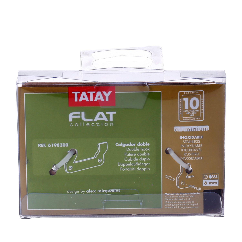 Tatay - Colgador Doble Flat 6198300  Amazon.es  Bricolaje y herramientas 4594b3dbf381