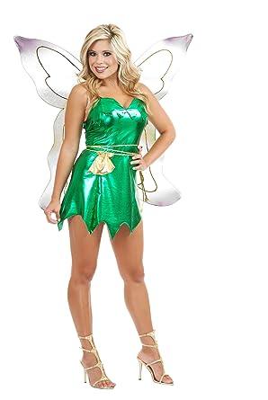 686f1bb6e Amazon.com: Women's Sexy Tinker Bell Peter Pan Costume: Clothing