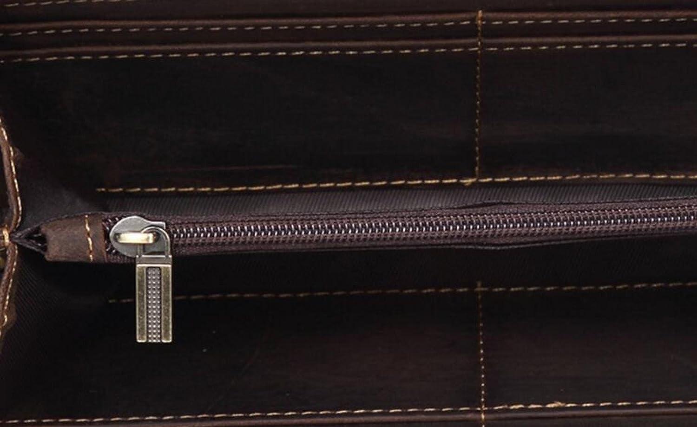 GKKXUE Herrenbrieftasche Business-Taschen Gro/ße Kapazit/ät Casual Rei/ßverschluss Handtaschen Europa \u0026 Amerika Mode Taschen