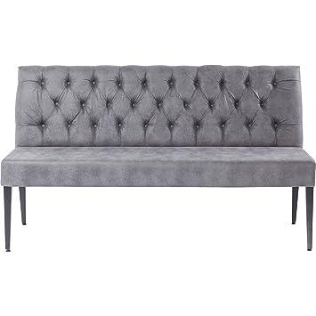 Voorkeur Bank grau Chesterfield-Polsterung, Sitzbank grau vintage, Bezug #IT33