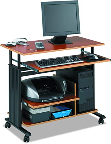 Safco Muv Mini Tower Desk, Cherry