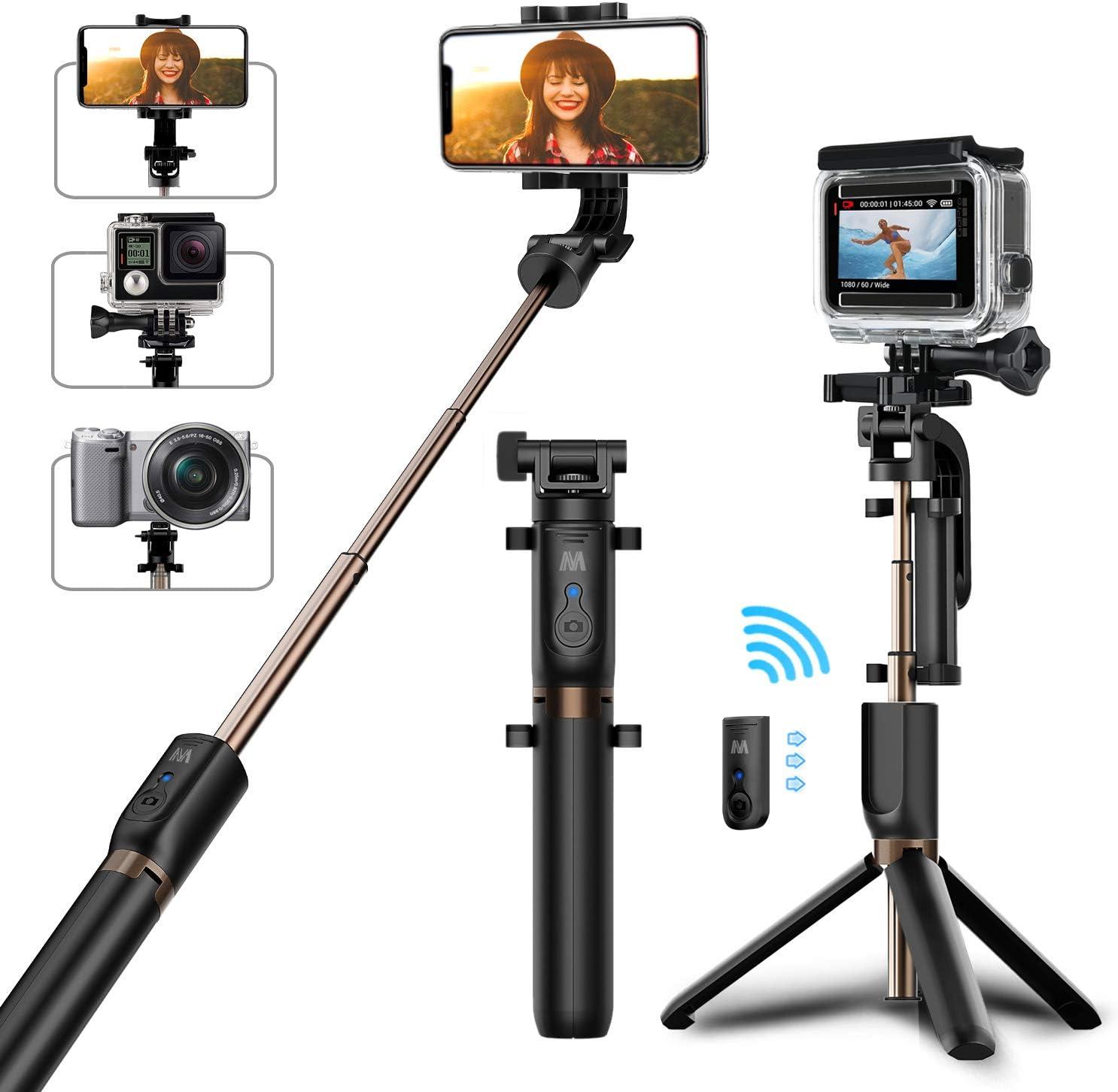 GoPro Sports Cameras Durable 2 in 1 Handheld Tripod Self-Portrait Monopod Selfie Stick for Smartphones Digital Cameras