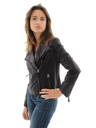Faux-Leather Juniors Black Motorcycle Jacket Asymmetrical Zipper ...