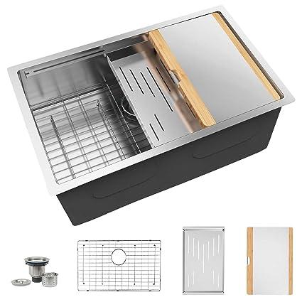 Amazon.com: TORVA - Fregadero de cocina de acero inoxidable ...