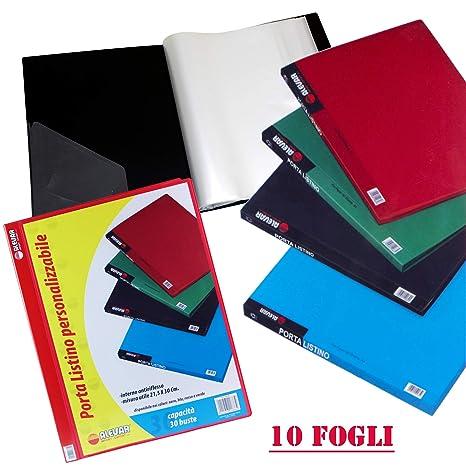 865f6902a4 Portalistino 10 Buste A4 Rosso: Amazon.it: Cancelleria e prodotti ...