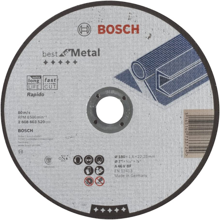 Bosch 2 608 603 520 - Disco de corte recto Best for Metal - Rapido ...