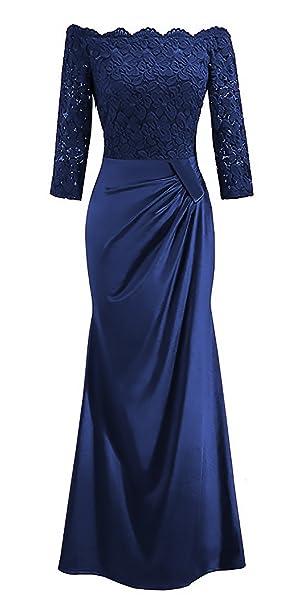 Mujer Vestidos De Fiesta Para Bodas Largos De Noche Splice Encaje Vestido Coctel Vintage Tallas Grandes