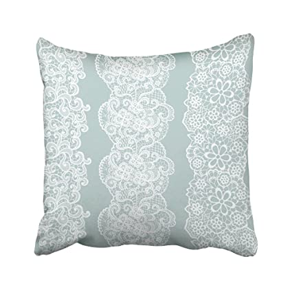 Amazon Emvency Decorative Throw Pillow Case Cushion Cover Blue Simple Decorative Trim For Pillows