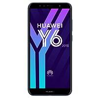 Huawei Y6 2018 Smartphone Débloqué 4G (Ecran: 5, 7 pouces - 16 Go - Double Nano-SIM + Port MicroSD - Android) Bleu