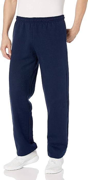 Gildan Mens Fleece Open Bottom Pocketed Pant